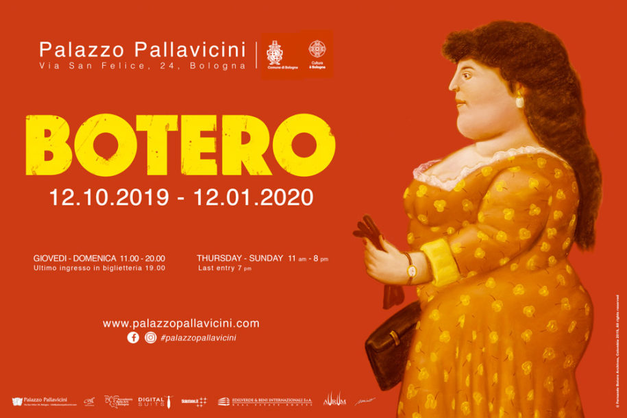 Botero exhibition flyer