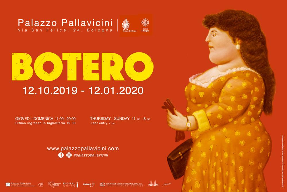 Botero exhibition flyer