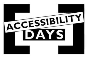 Logo dell'evento Accessibility Days 2020