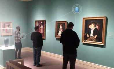 Visitors using apps and beacons